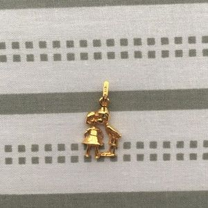 22K solid gold pendant. Gold charm necklace